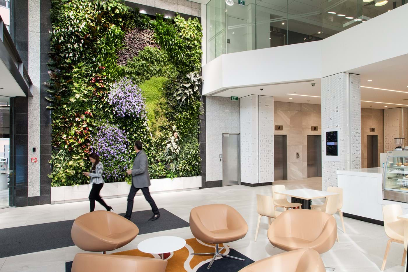 22 Fanshawe St, Auckland: The Green Wall gives the Atrium a fresh, natural environment.